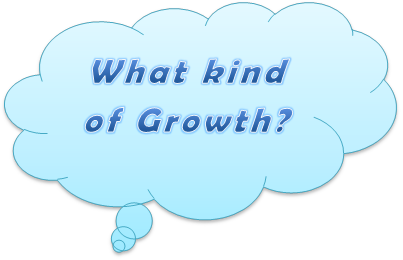 What ind of growth thought bubble